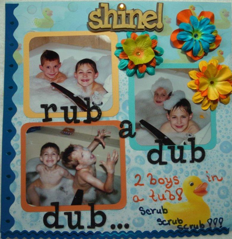 Rub a Dub Dub 2 Boys n a Tub!!!
