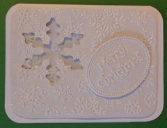 Snow Flake Shaker Merry Christmas