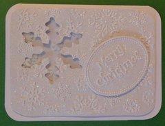 Snow Flake Shaker Merry Christmas