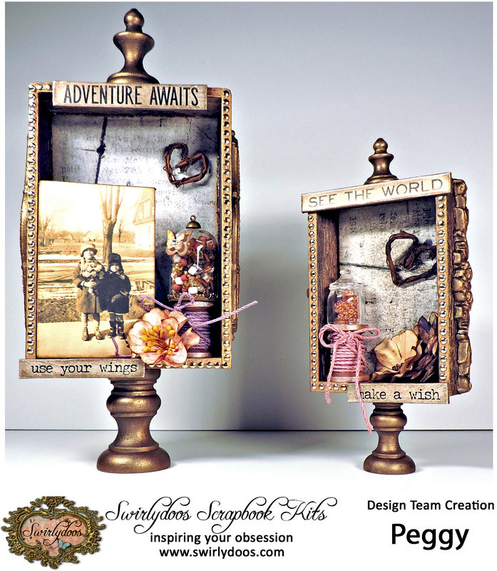 Curio Boxes with the ***Swirlydoos*** April Project Kit