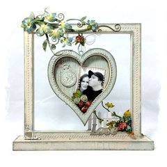 Shabby Chic Floating Heart Frame
