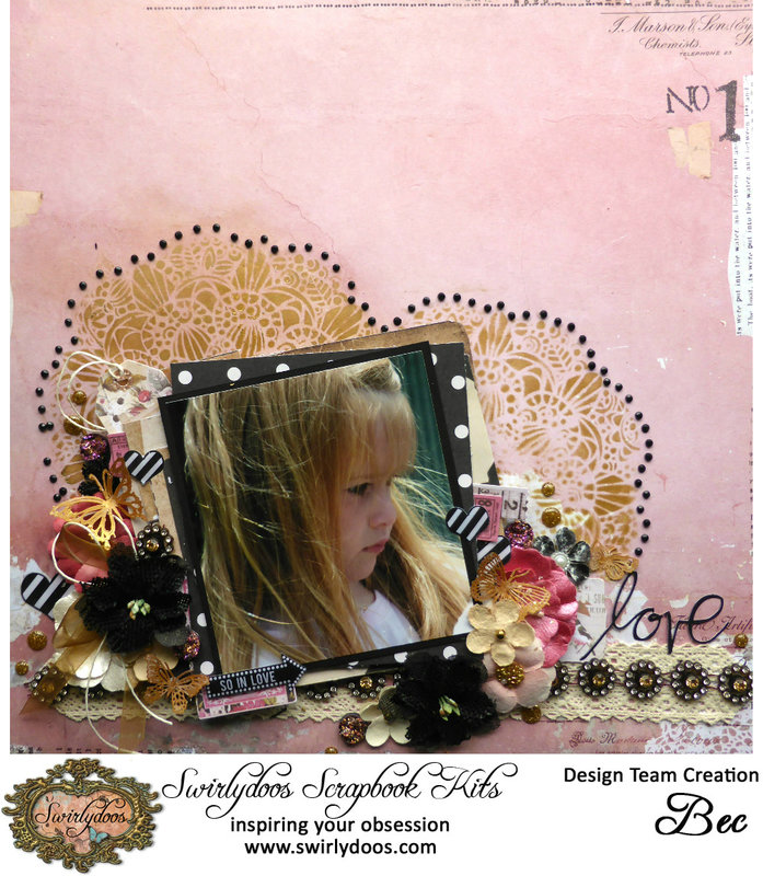 Swirlydoos October 2016 Kit - Rose Garden