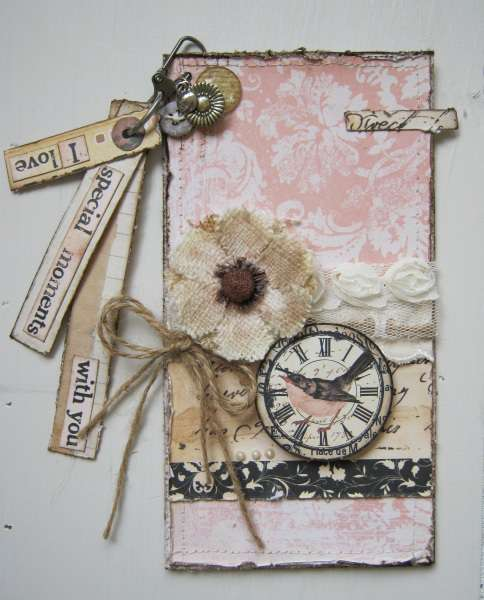 Word dangle card