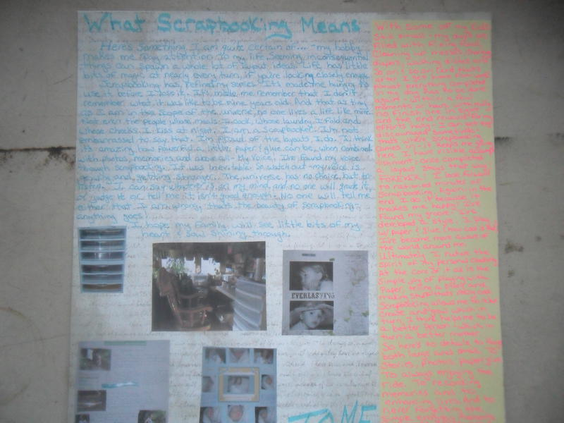 what scrapbooking means to me