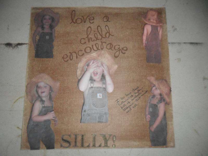 love a child..encourage silly