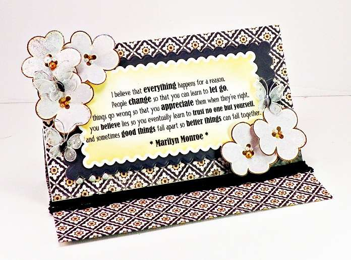 Marilyn Quote Card - Paper Makeup Stamps