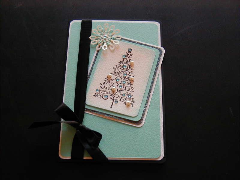 Teal Blue Christmas Card