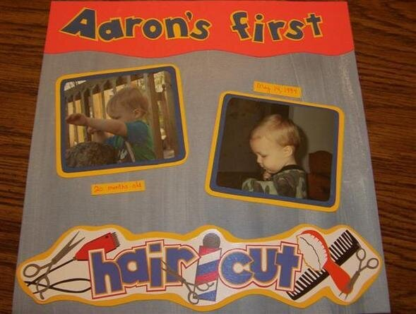 Aaron's first haircut