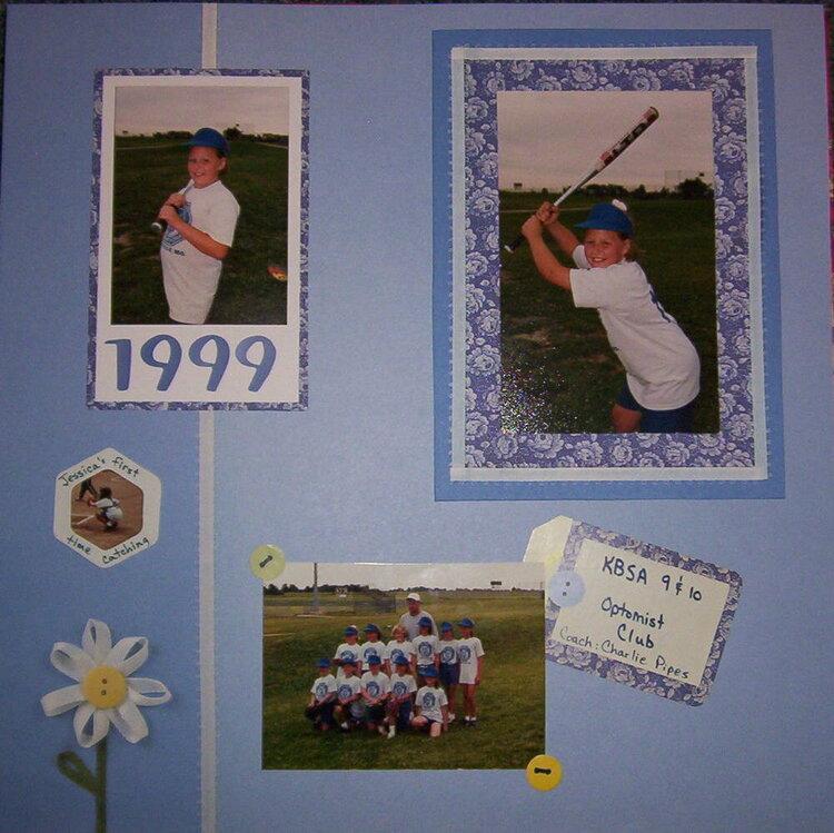 Jessica softball 1999