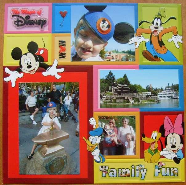 Family Funat Disneyland
