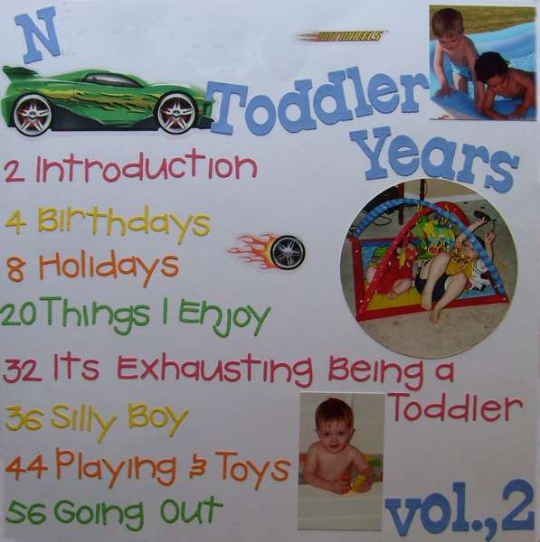 Toddler Years Table of Contents