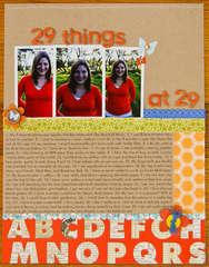 29 things at 29