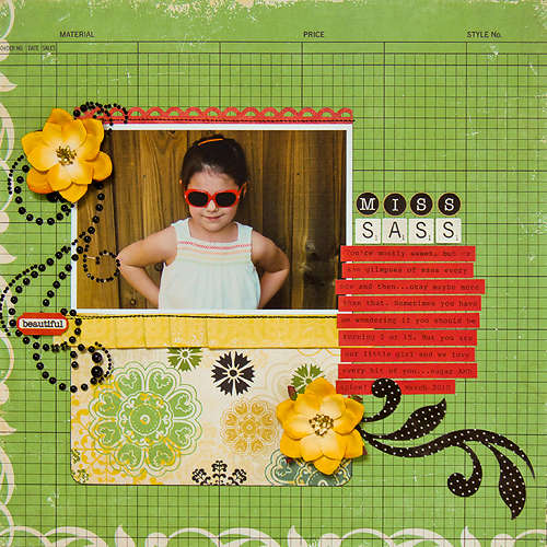 Miss Sass *April My Scrapbook Nook Kit*
