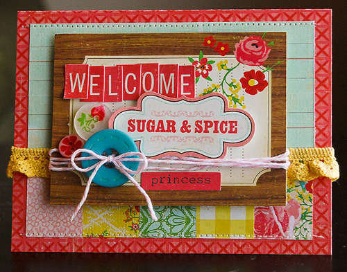 Welcome Sugar and Spice card *March My Scrapbook Nook Kit*