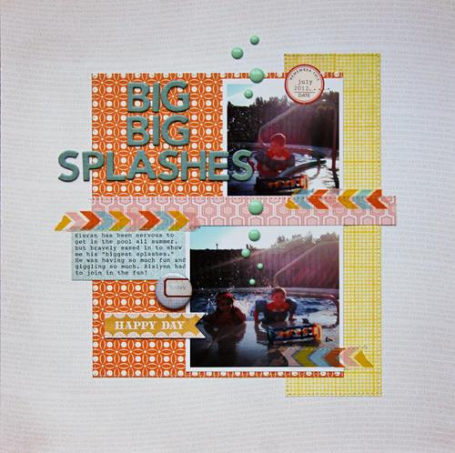 Big Big Splashes *Scraptastic Club Noted Kit*