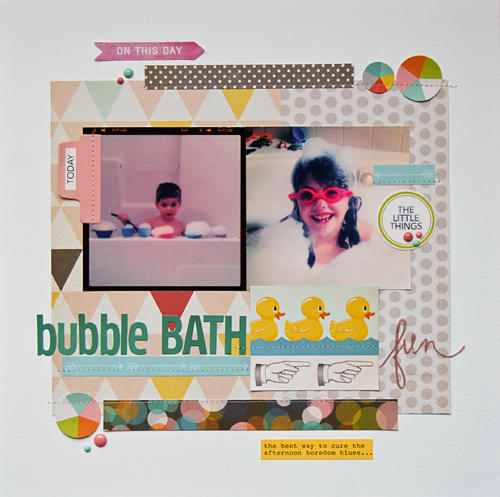 Bubble Bath Fun *Scraptastic All the Lights Kit*