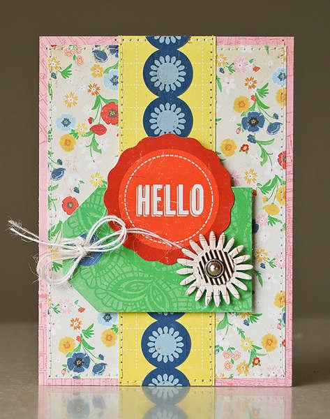 Hello card *April My Scrapbook Nook*