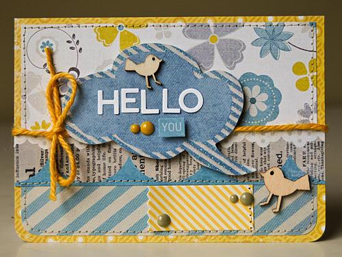 Hello You card *Scraptastic Club Blue Skies kit*