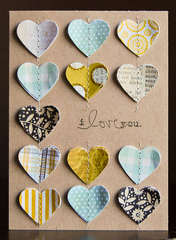 I Love You card *October My Scrapbook Nook*