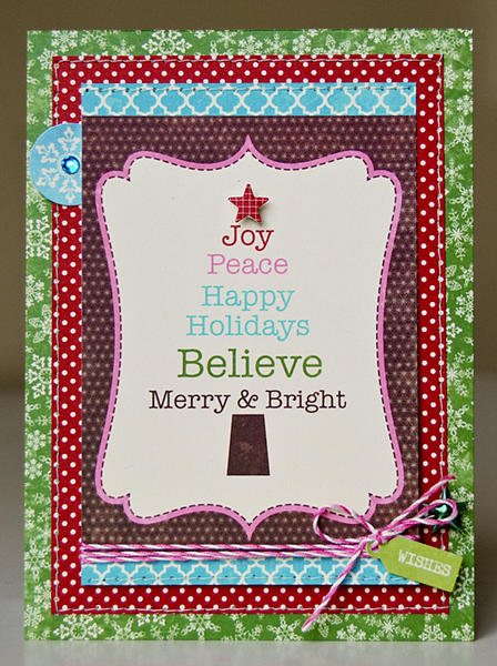 Joy Peace Happy Holidays card
