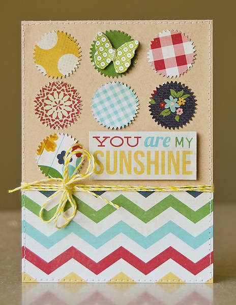 You are My Sunshine card *June My Scrapbook Nook*