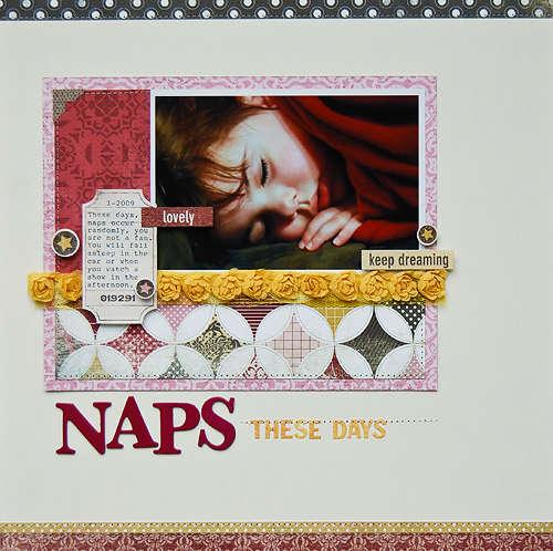 Naps These Days *August My Scrapbook Nook*