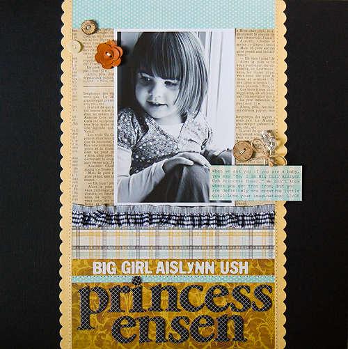Big Girl Aislynn Ush Princess Ensen *October My Scrapbook Nook*