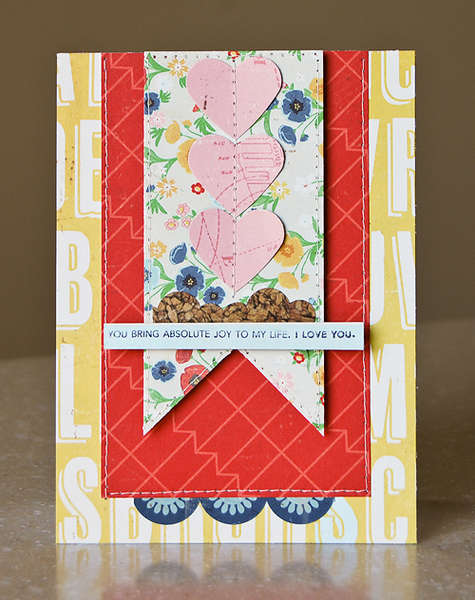 You Bring Joy card *April My Scrapbook Nook*