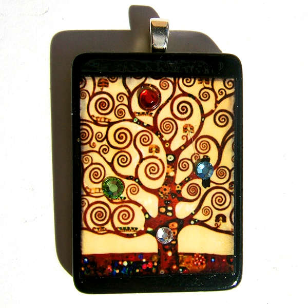 TREE OF LIFE Klimt painting pendant