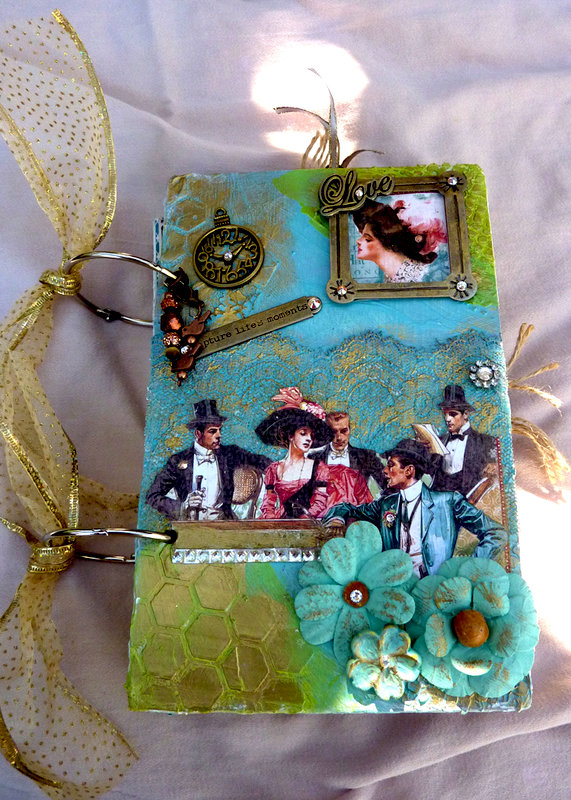 Off to the Races Graphic 45 mixed media journal  NSD Crafter's Choice Challenge