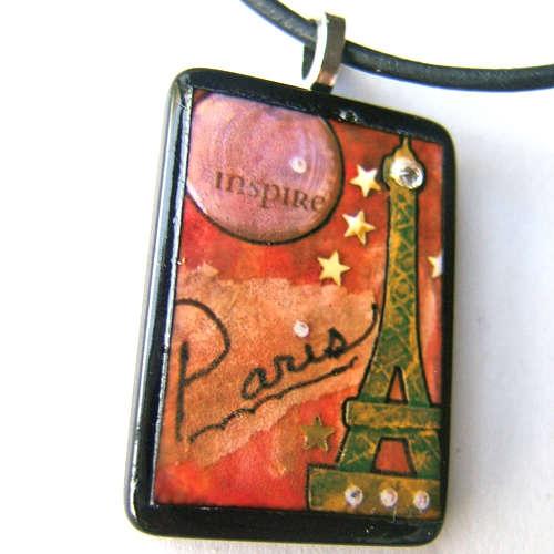 I love Paris photo pendant