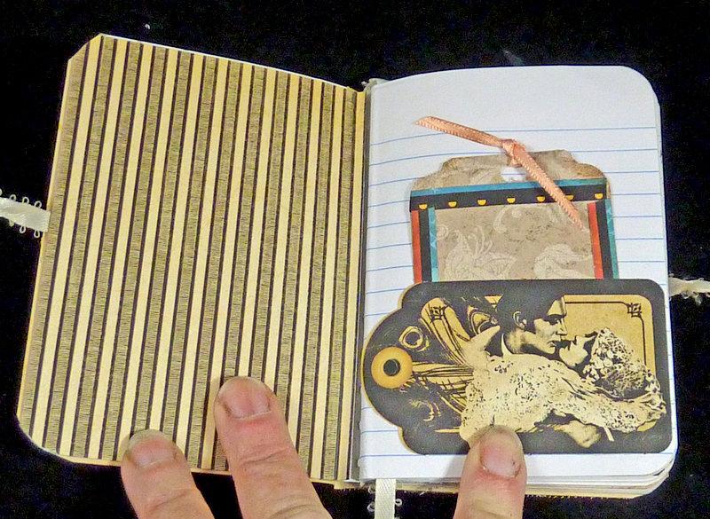 Vintage Bride handmade art journal smash book