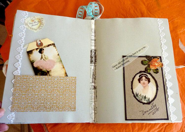 Vintage brides; 2 page lo for Bride journal