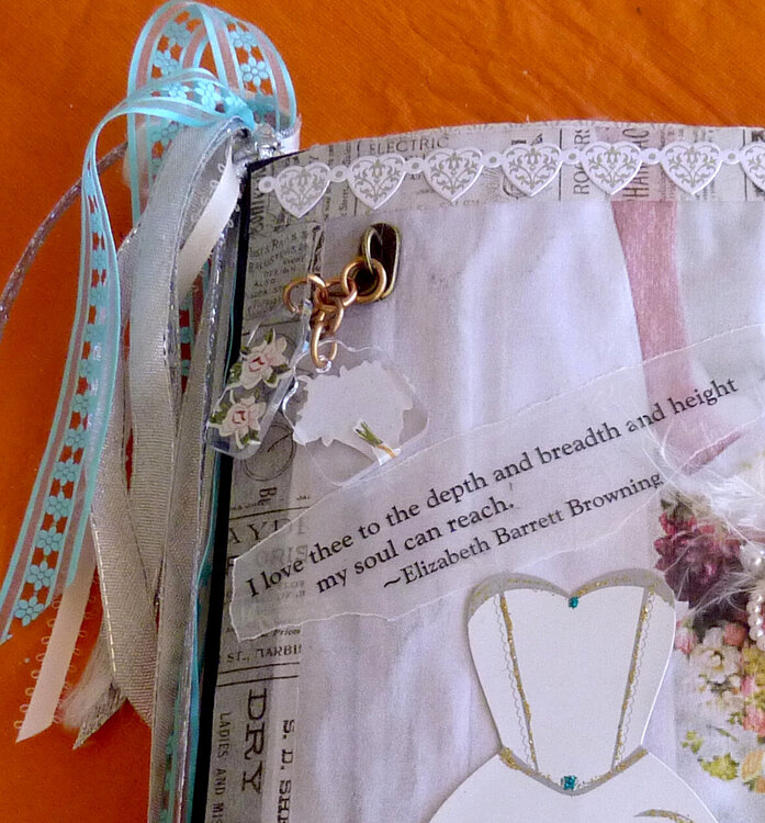 bridal wedding mixed media  memory journal