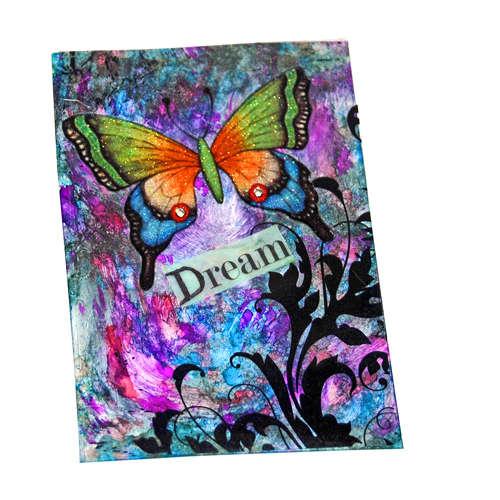 Rainbow Butterfly Dreams art card aceo