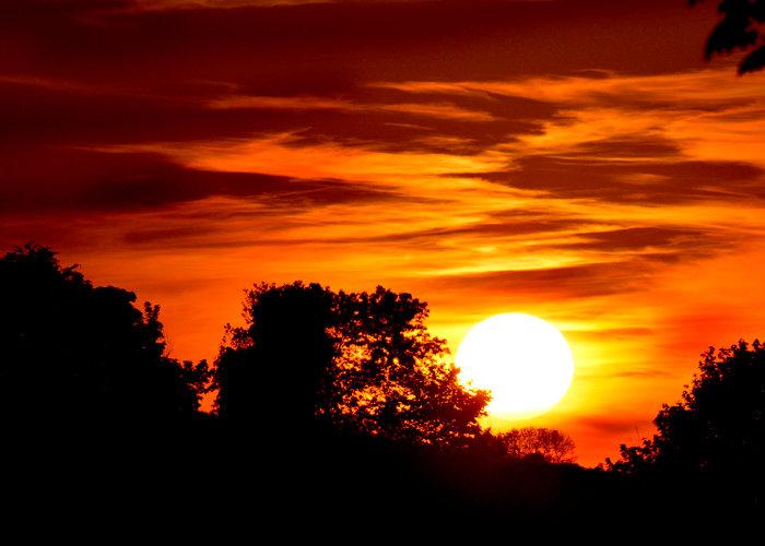 Devon country sunset photograph