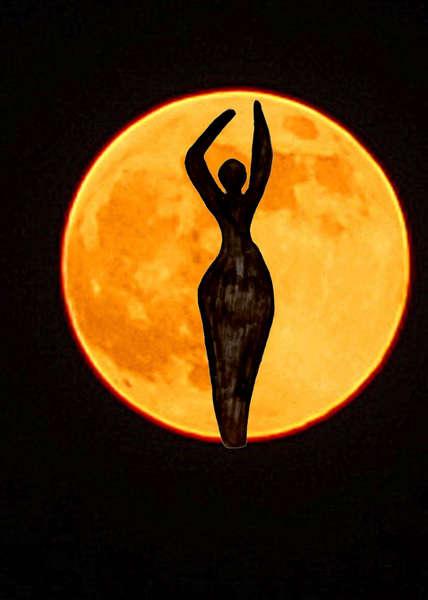 Moon Goddess ; a composite photograph