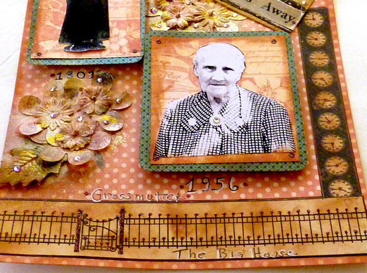 My great grandmother, a scrapbook page for my family history book  Graphic 45 challenge