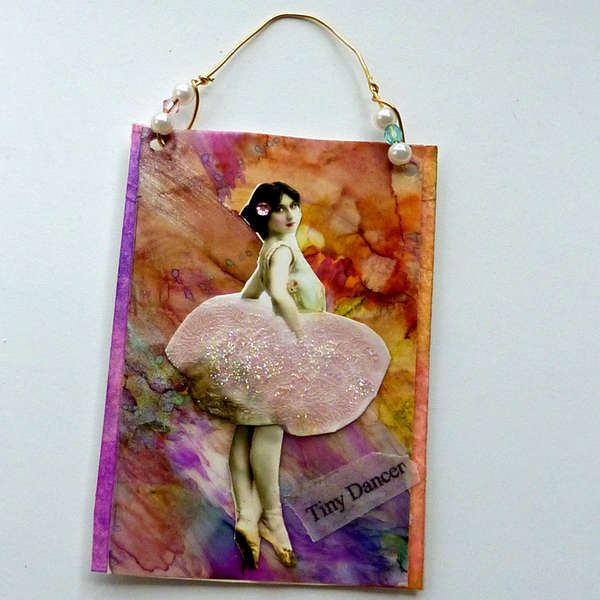 hanging art card Parisian ballerina