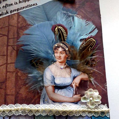 Travel art Journal Mixed media collage Jane Austens diary