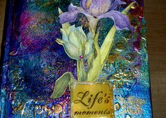 mixed media journal Life's Moments