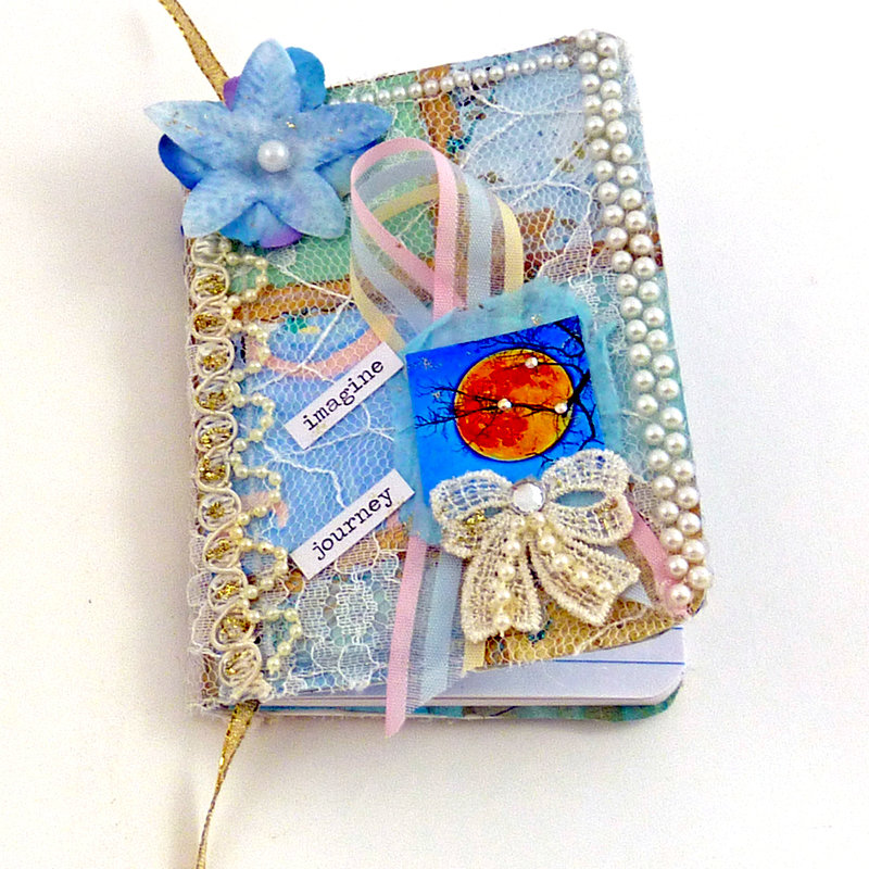 Harvest moon  lacy mini journal smash book