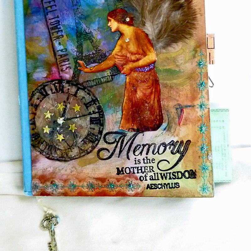 Mixed media collage art journal cover