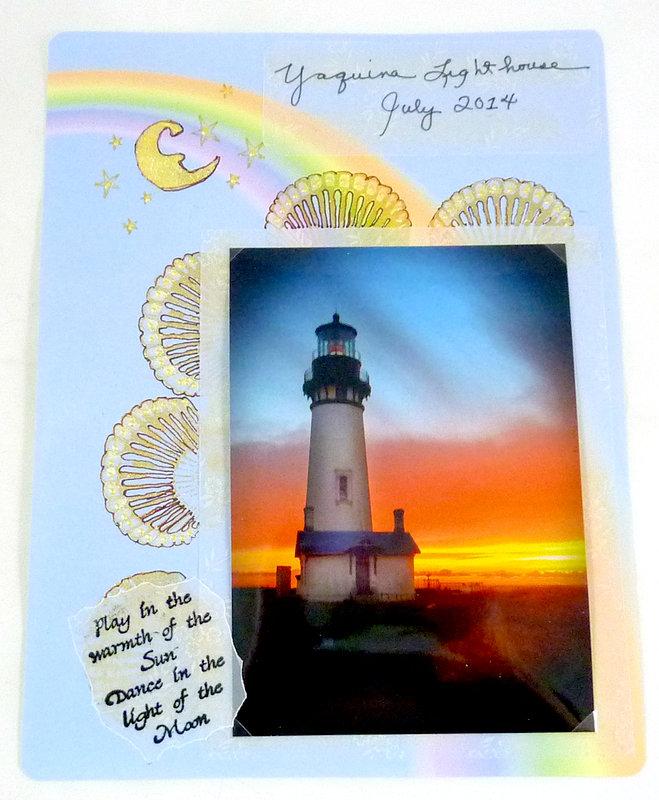 Yaquina Lighthouse Oregon Coast July stamping challenge