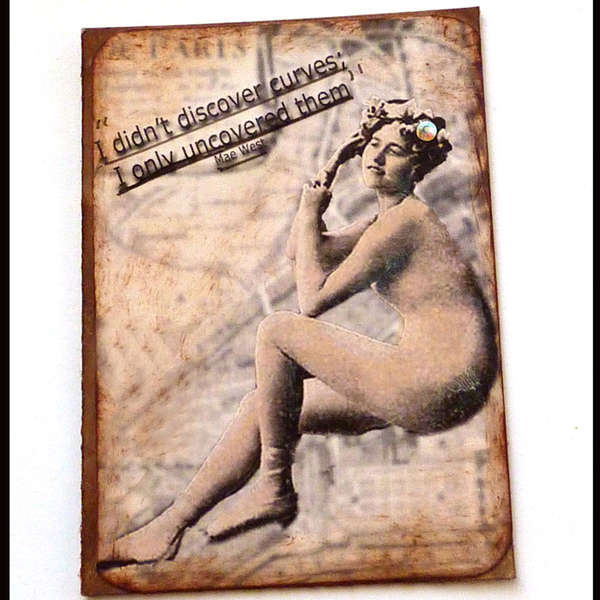 Mae West art card Discover curves funny