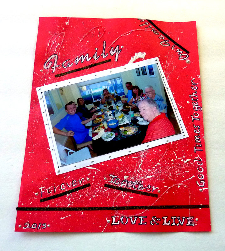 Family dinner lo  june challenge with a twist of paint spatters