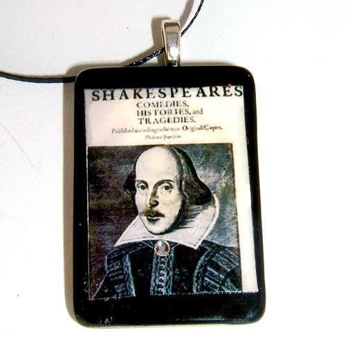 Shakespeare pendant necklace