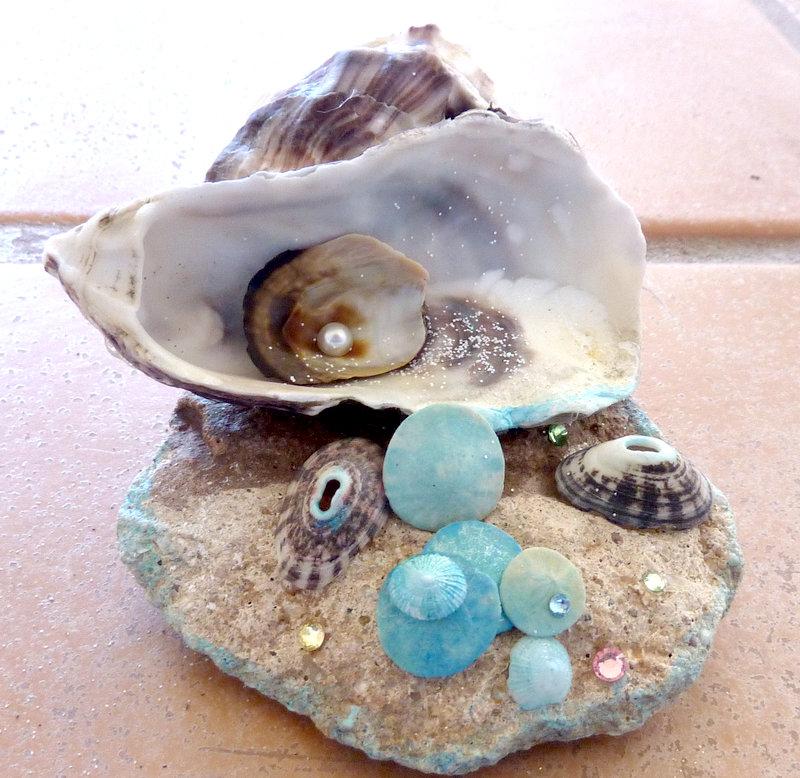sea shell collage art