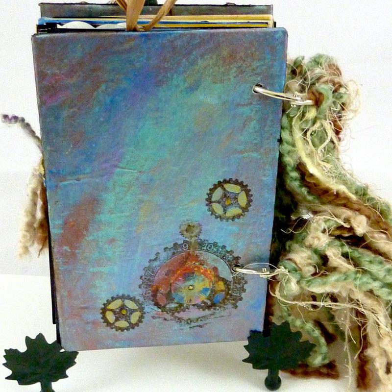 Steampunk Spirit art journal  back cover