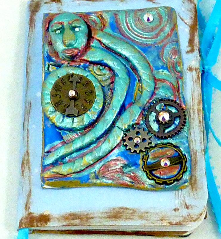 steampunk art journal cover